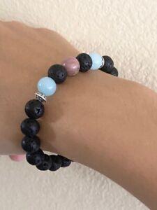 Handmade Gemstone and Lava bead Bracelets