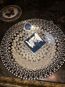 Azzurra Turkey / Turkish Hand Made Decorative Bowl 100% Genuine Silver New 9""