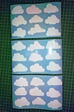 Set of 27 x CLOUDS cloud decal sticker vinyl wall art nursery kids child room