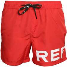 Replay Large Logo Men's Swim Shorts, Red