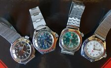 Russische Komandirski Armbanduhren, Automatik, ungtragen im Konvolut