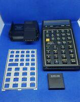 vintage calculator HP-41c hewlett packard + HP-82104A card reader