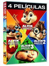 ALVIN Y LAS ARDILLAS DVD PACK COMPLETO 1 2 3 4 NUEVO ( SIN ABRIR ) EDICION 2017