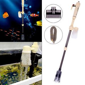 Electric Aquarium Fish Tank Vacuum Cleaner Pump Gravel Sand Water Change Filter