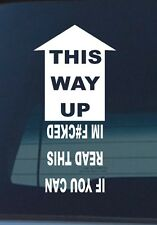 THIS WAY UP STICKER FUNNY 4x4 DECAL FOR 4WD
