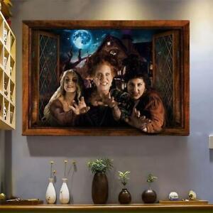 Witches Hocus Pocus Halloween Night Poster, hocus pocus Poster No Frame/ Canvas