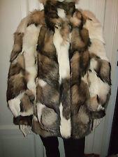 PELLICCIA COAT MANTEL FUR PELZ WHITE COYOTE KOJOTE VOLPE FUCHS FOX VINTAGE RARE