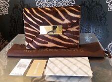 MICHAEL KORS RUNWAY COLLECTION Quinn Haircalf Envelope Clutch NWT $695