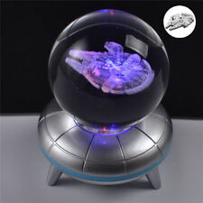 Star Wars The Last Jedi Millennium Falcon 3D LED Crystal Ball Night Light Lamp