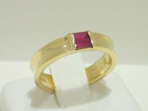 TIFFANY & CO. 18k yellow gold band ring with ruby size 5.25