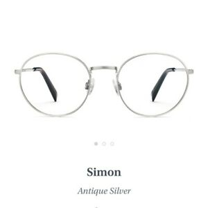 WARBY PARKER SIMON EYEGLASSES SUNGLASSES Antique Silver Men's UNISEX 50-19-145