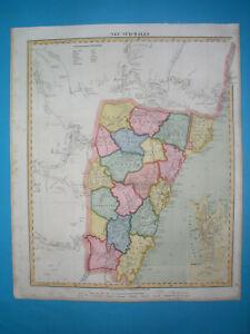 1848 ORIGINAL MAP AUSTRALIA NEW SOUTH WALES SYDNEY - city plan