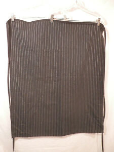 "Uncommon Threads  Bistro Apron Pin striped  33""  x 27""  Double pocket"