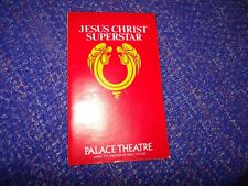 Palace Theatre Jesus Christ Superstar Theatre Programme From 1978 with Ticket