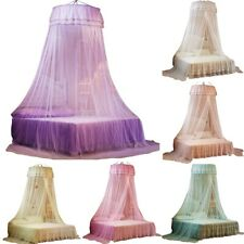Palace Mosquito Net Round Bed Canopy Bedcover Mosquito Tent Curtain Bedding Dome