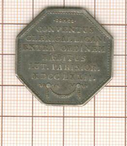 jeton argent Louis XV Convention du clergé 1772