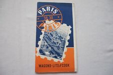 1938 Wagon Lits Cook Timetable Paris Railway Guide Thomas Cook