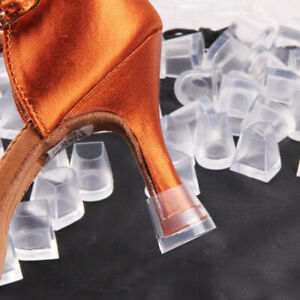 1 Pair Clear High Heel Protectors Stiletto Heels Shoes Protect Cover Stoppe Z9R7