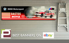 BMW e30 M3 BASTOS Rally Workshop / Garage Banner with Eyelets, MSport, M3, 318i