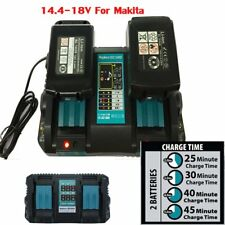 for Makita Dc18rd 240v 14.4-18v LXT Twin Port Rapid Battery Charger With USB
