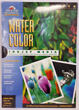 AMAZON WATER COLOR 8.5 X 11 INKJET PAPER 5- Packs of 8 -  total 40 sheets