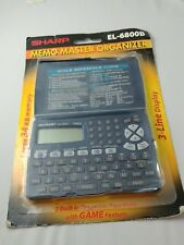 Sharp Memo Master El-6800B 34Kb Blue Electronic Organizer Phone Book Pda