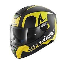 NEU SHARK Helm Skwal Trion gelb matt LED Gr. L 59/60 Motorradhelm Sonnenblende