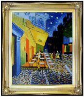 Framed Hand Painted Oil Painting Repro Van Gogh Cafe Terrace at Night 20x24in
