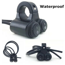 7/8'' Aluminum Handlebar Switch Dual Light Rocker Waterproof for Motorcycle ATV