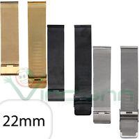 Cinturino 22mm acciaio metallo maglia milanese per Huami AmazFit Stratos 3 MMC6