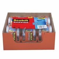 Scotch Shipping Clear Packing Tape 6 Rolls x 800`` inches Dispenser Heavy Duty