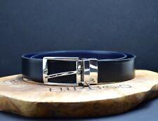 Zara Classic Reversible Mens Leather Belt Black Blue Size 32