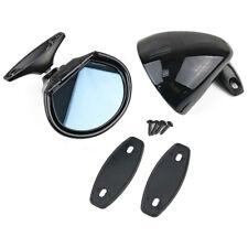 Universal Vintage Black Classic Car Door Wing Blue Anti-glare Side View Mirror