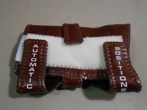 Robby's Automatic Positioner Bowling Wrist Support Right Large Brown Leather