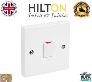 HILTON White Plastic 20Amp Double Pole Switch ***Best Quality***