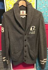 Franklin Marshall Mens Cardigan Grey Original Vgc Wool Size L VGC