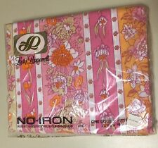 Vintage Lady Pepperell No Iron One Double Fitted Sheet Floral Pink Orange