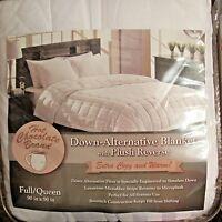 "Aeolus Down Luxury Alternative Blanket Plush Reverse Full Queen White 90"" x 90"""