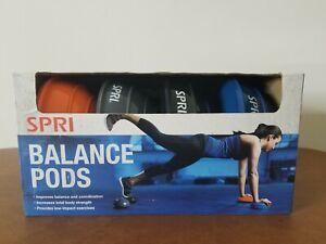 SPRI Balance Pods Set of 4 Stability Strength Trainer Dots Fitness Running Yoga