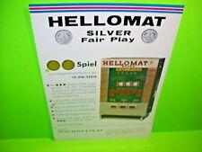 Hellomat Automaten SILVER FAIR PLAY Original Slot Machine Flyer German Text Rare