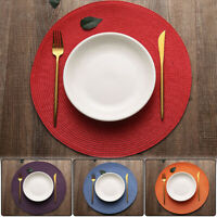 New Jacquard Weaved Non Slip Placemats Dining Table Mats 4 6 8pcs Set Home