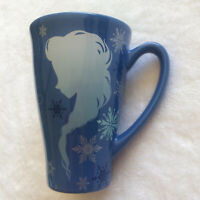 Disney Store Frozen ELSA ANNA Keep Calm and Let It Go Blue TALL Coffee Tea Mug