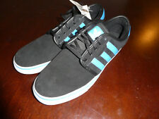 Adidas Seeley mens shoes size 10 black blue new sneakers