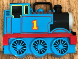 Thomas the Train Learning Curve 2002 Carrying Case With Lot Of 13 Trains/cars