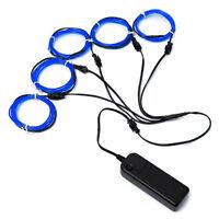 H610 5x 1m EL Wire EL Kabel Neon Beleuchtung leuchtschnur fuer Weihnachtsfeiern
