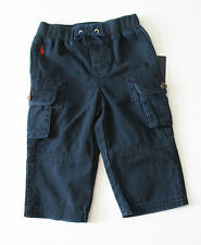Polo Ralph Lauren Boys Cotton Cargo Pants Aviator Navy Sz 9M - NWT