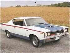 The 1970 AMC Rebel Machine classic car 8 x 11 pin-up photo