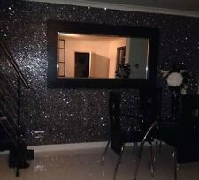 Black chunky Glitter wallpaper covering Bling grade 3 sold by the metre