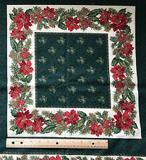 VIP Cranston Printworks POINSETTIA PLACE MAT FABRIC Christmas set 5  cotton  #H