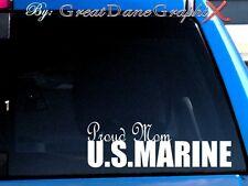 Proud Mom US Marine Vinyl Car Decal Sticker / Choose Color - HIGH QUALITY